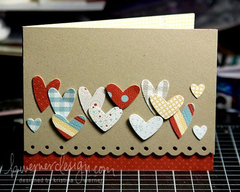 : Heart Punch, Cards Design, Cards Ideas, Crafts Cards, Punch Heart, Valentines Cards, Cards Kids, Valentines Day Cards, Heart Cards