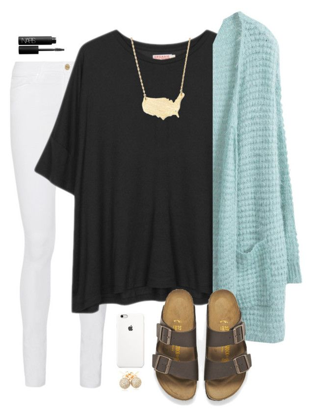 """""""what did you wear today? possible s/o?"""" by madixoxo21 ❤ liked on Polyvore featuring Frame Denim, Organic by John Patrick, Moon and Lola, NARS Cosmetics, Birkenstock, Loushelou, women's clothing, women, female and woman"""