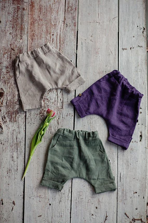 Toddler Baby Kids Boys Girls Summer Linen Casual Shorts Elastic Waist Pants Cosy
