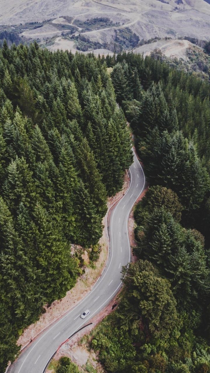 Green Trees Aerial View Nature Highway 720x1280 Wallpaper Nature Aerial View Green Trees Hd wallpaper mountain road aerial view