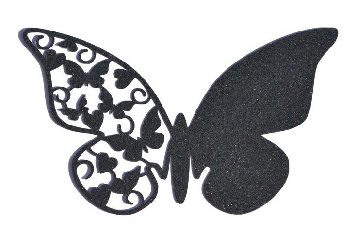 Laser cut butterfly place card www.sew-unique.co.uk