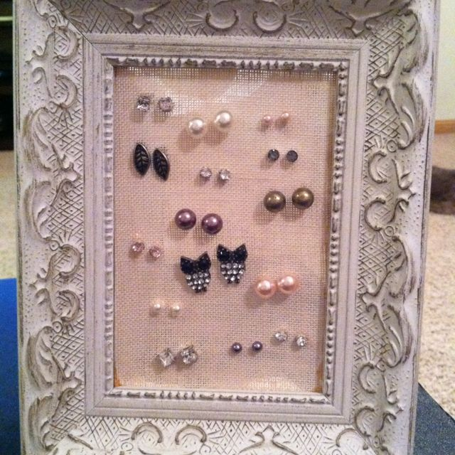 DIY earring holder... I need to do this for my studs