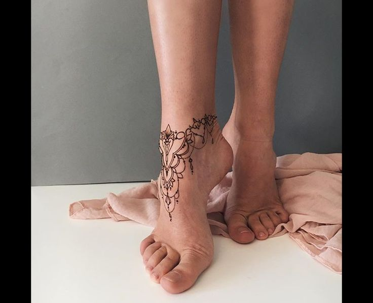 Foot Henna Tattoo Prices: Ankle Bracelet Tattoo, Arm Band Tattoo