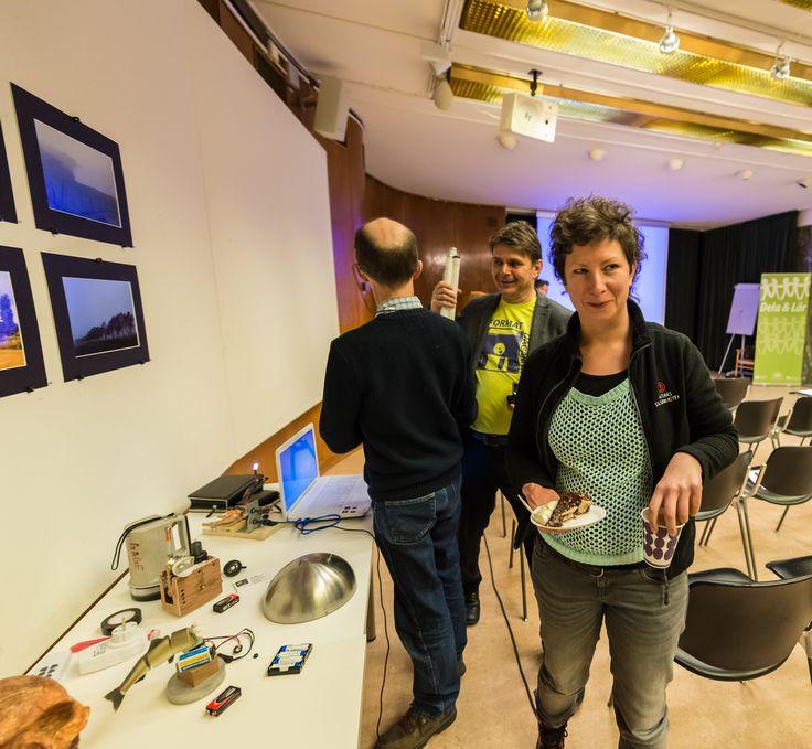 Formatdagen 18 november 2014 på Västerås stadsbibliotek. På bilden syns från vänster Jim Gage Västerås och Tinalina Karlsson Glöde Västerås stadsbibliotek. Foto: Ingemar Johansson Bålsta