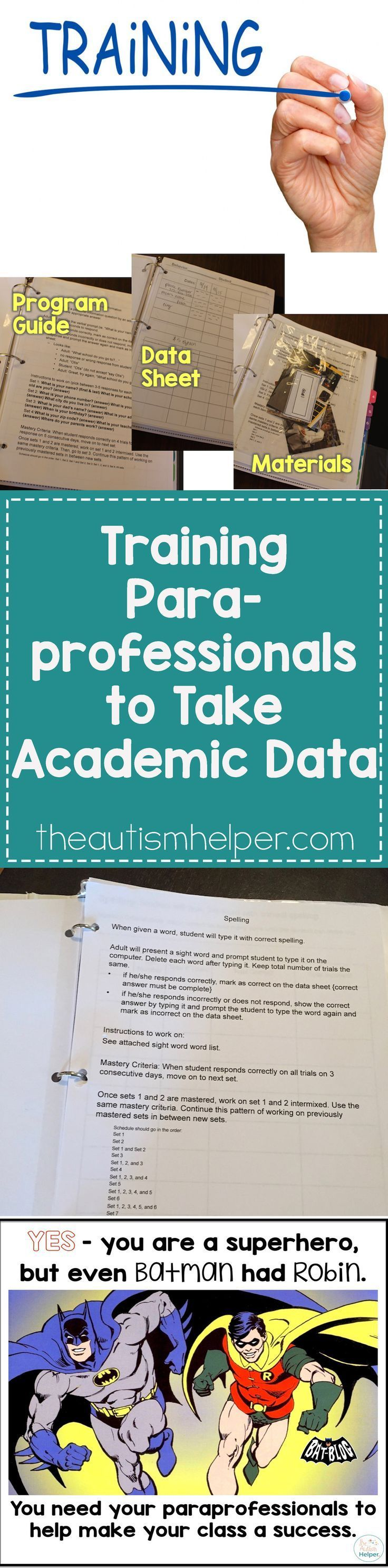 34 best parapros images on pinterest special education teacher training paraprofessionals to take academic data fandeluxe Gallery