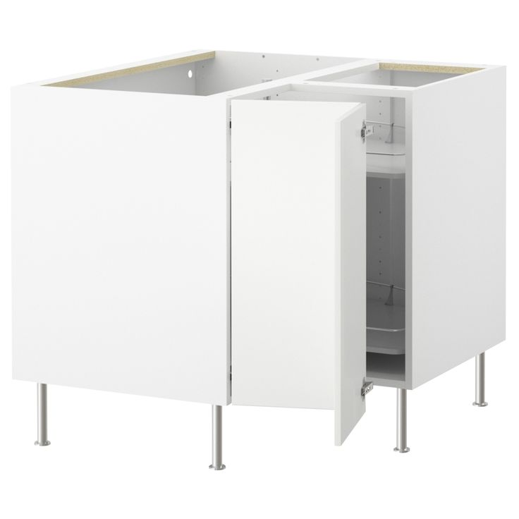 AKURUM Corner base cabinet with carousel - white, Applåd white - IKEA --- $231.00 --- Kitchen