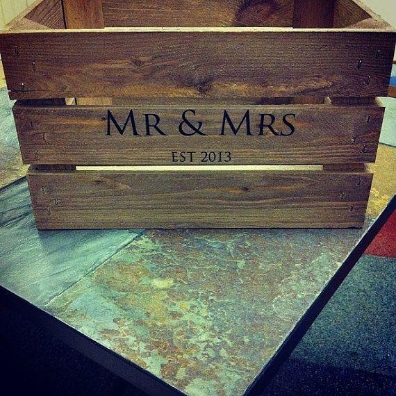 Rustic Personalised Wedding Crates by ULTsEtsyShop on Etsy, £35.00