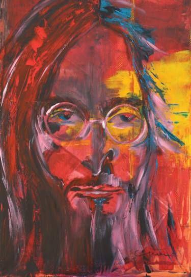 "Saatchi Art Artist Florin Coman; Painting, ""Imagine God. John Lennon Portrait"" #art"