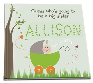 big sister book personalized just for the soon to be big sister!!!! Love this idea