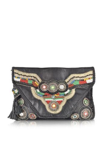 Antik Batik Buffalo Black Wallet Clutch