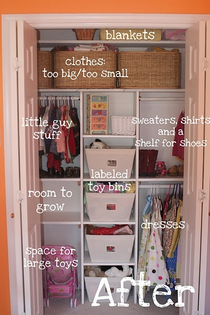 Good organization Z has too many toys and I need to start storing them in her closet so our house can appear clean on occasion.