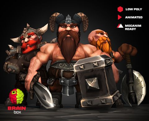 Dwarf Pack https://www.assetstore.unity3d.com/en/#!/content/21967