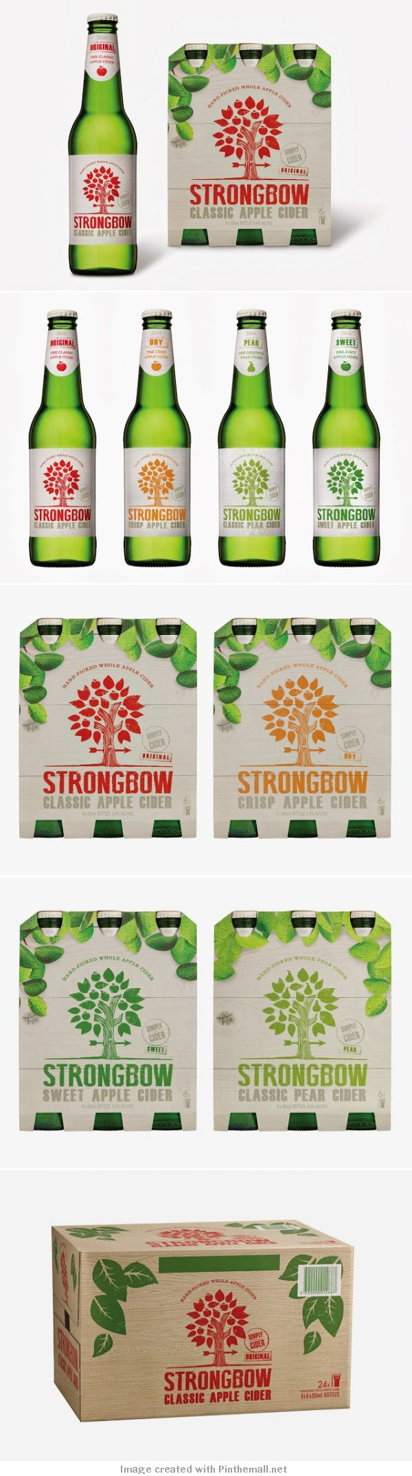Strongbow apple cider packaging