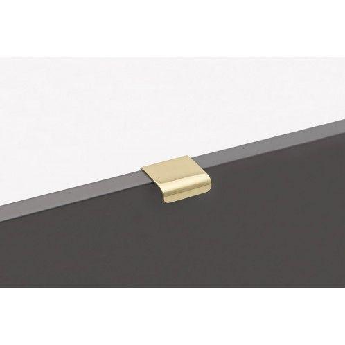 Lip Handtag - Polerad Mässing - Beslag Design