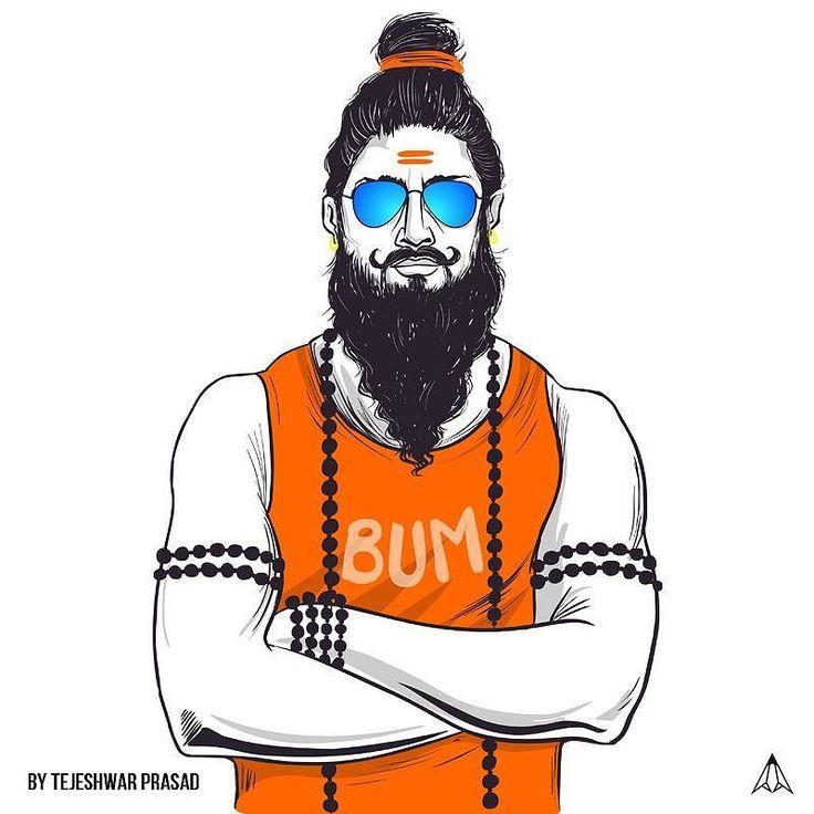 http://paintcollar.com/tejuart . . Bum Bholenath !!! Art credits - @tezbaba . . #shiva #bumbholenath #swag #sadhu  #paintcollar
