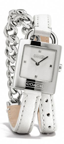leather and chain strap Coach watch http://rstyle.me/n/ktv5mr9te