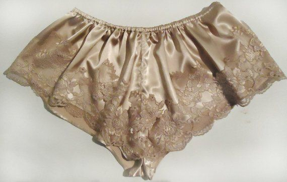 38b1812db18e3c French knickers, satin knickers, satin panties, lace lingerie, lingerie,  vintage lingerie, silk ling