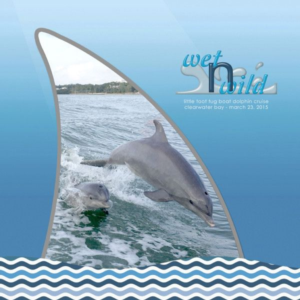 dolphin cruise - digital scrapbook layout by Simply Kelly Designs