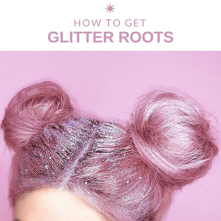 Want the perfect festive hair? Then why not try this amazing new trend - glitter roots! Follow this amazing tutorial with us. #pink #glitter #hair #inspo