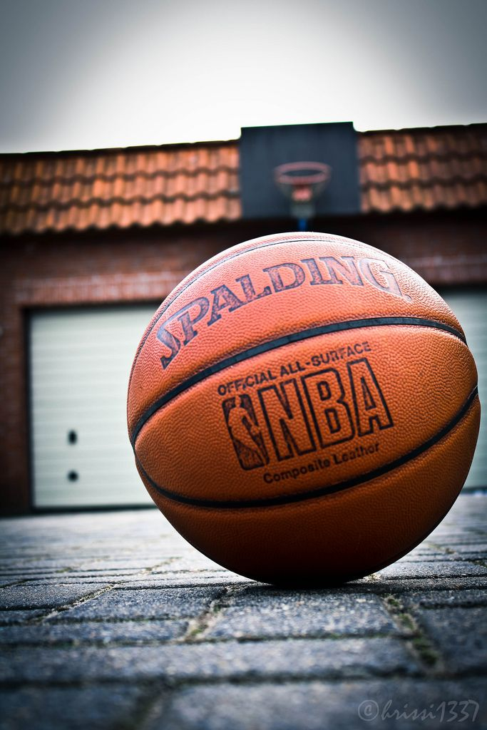 https://flic.kr/p/9icvg4 | Basketball! | A picture of an NBA Spalding Basketball