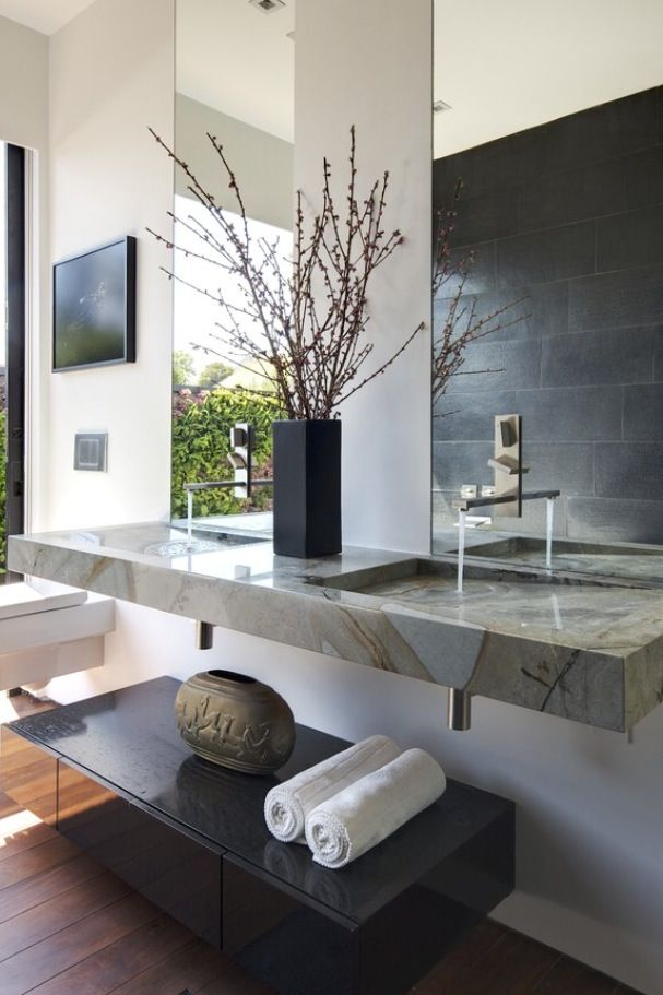 Fox Residential Group will find your dream home. You just have fun decorating & designing it - Zen Bathroom