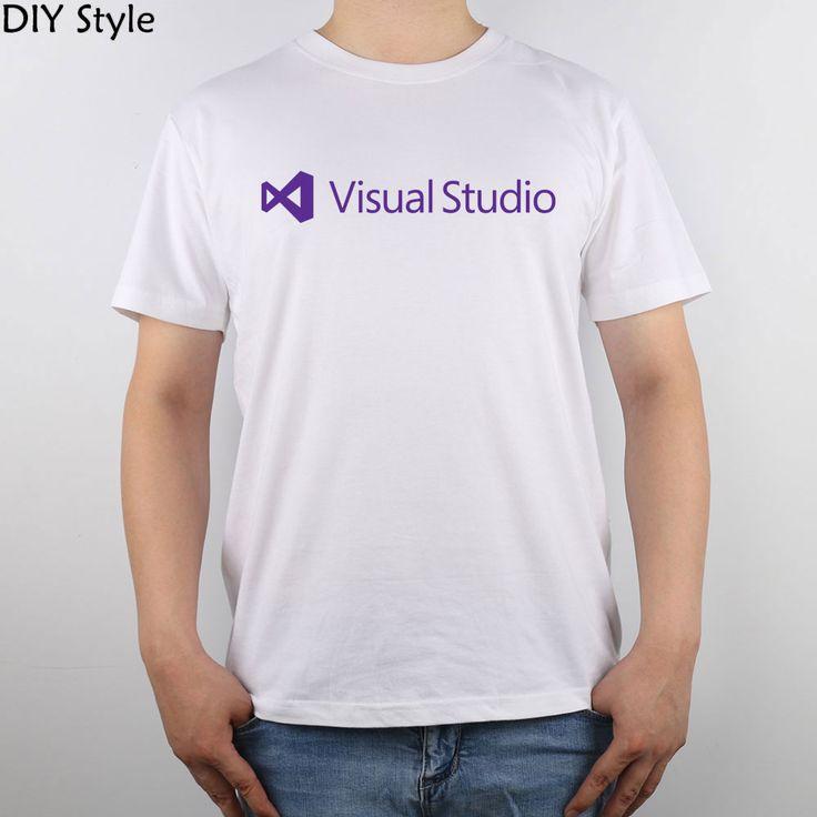 Microsoft Visual Studio Deep Purple t-shirt Top Pure Cotton Men T Shirt #Affiliate