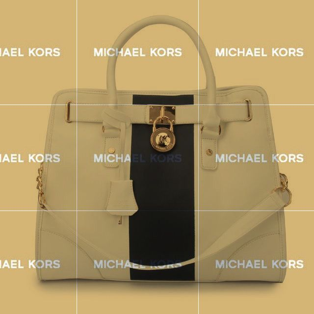 Michael Kors Hamilton Center Stripe Large White Black Totes Would Be A Best Choice When You Are Choosing Your Brand!