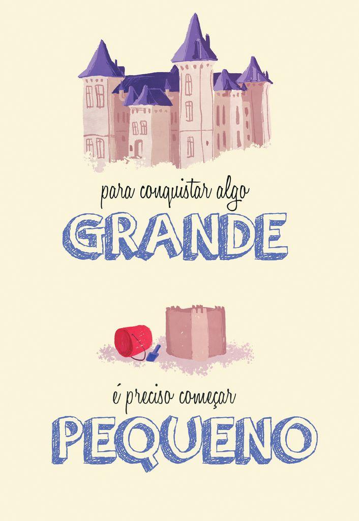 Poster Frase Para conquistar algo grande - Decor10