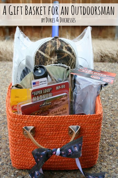 54 best marks 21st birthday images on pinterest gift ideas a gift basket for an outdoorsman negle Choice Image