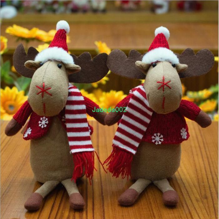 1Pcs 18Cm Christmas Decorations Christmas Creative Gift Elk Cloth Dolls