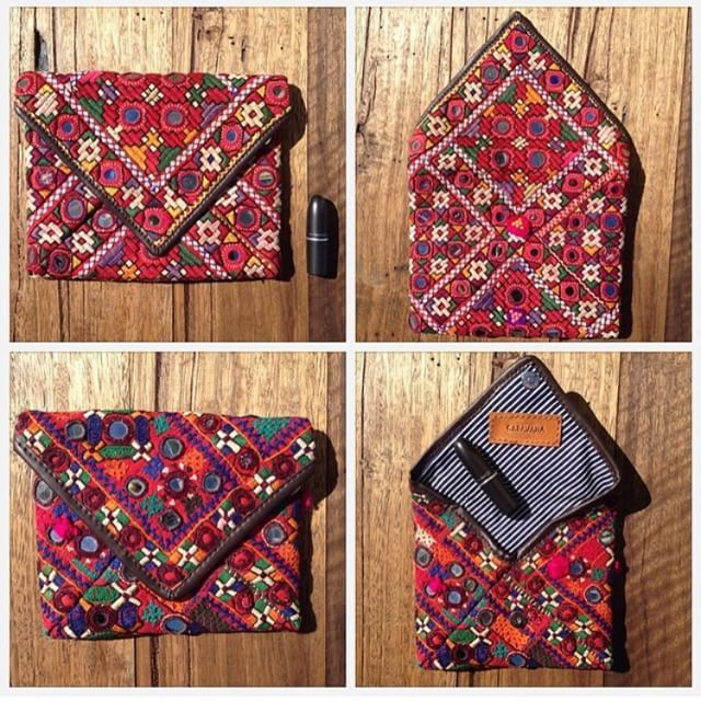 { traditional Kutch clutches } arrive this week!! So excited for this next shipment which includes a removable x-body strap so it can also be worn as a bag ❤️