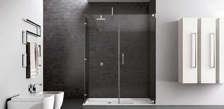 17 best ideas about cabine de douche rectangulaire on - Porte de douche italienne ...