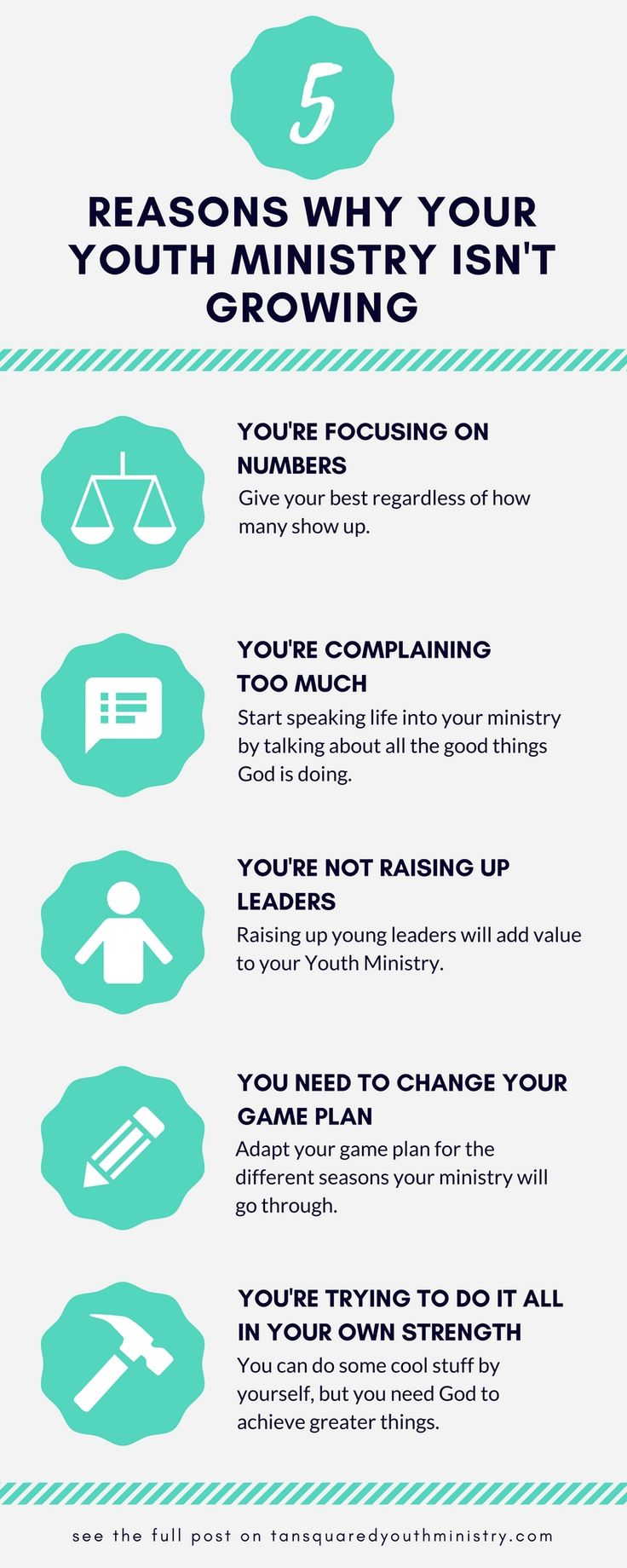 Are you struggling to see growth in your youth ministry? Either personal growth or growth in numbers? There's many reasons why this could be the case. Here are 5, and what you can do to fix them.