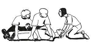 stretchers folding techniques - Αναζήτηση Google Erste Hilfe/ stabile Seitenlage – Wikibooks, Sammlung freier Lehr-, Sach- und Fachbücher de.wikibooks.org