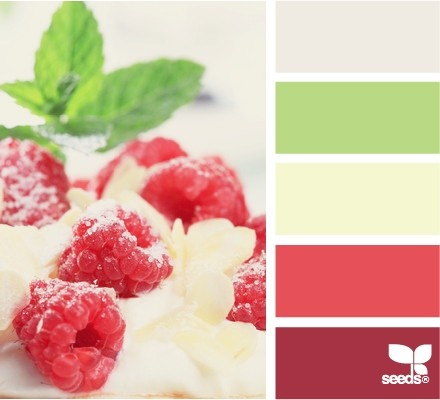 A fun Christmas color palette of berry hues
