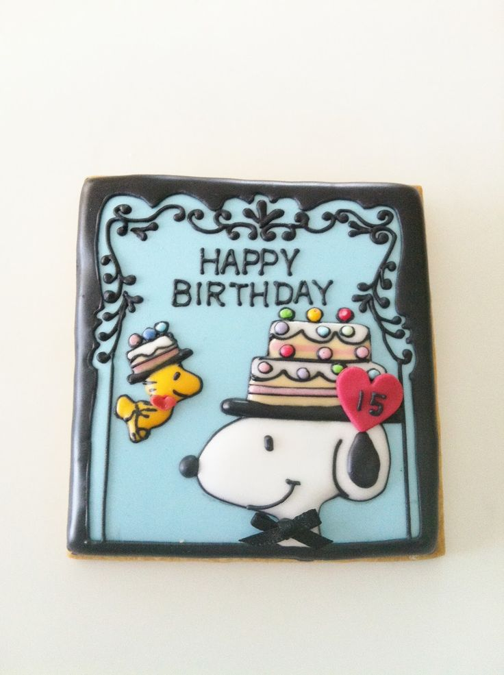 132 best Snoopy Cakes and Cookies images on Pinterest Snoopy