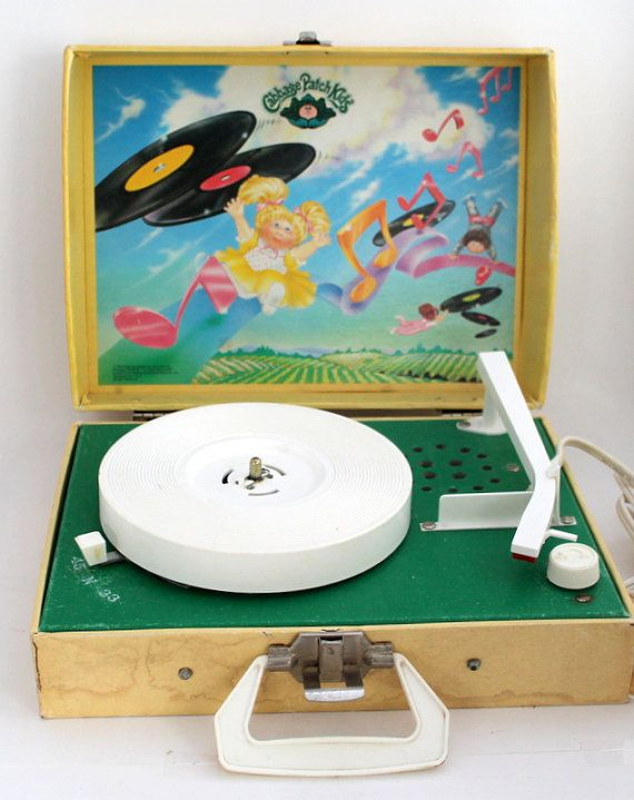 Vintage Record Player Cabbage Patch Kids Record by AHiddenNest