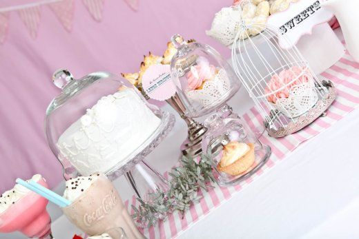 PINK DESERT TABLE- CAKE STANDS