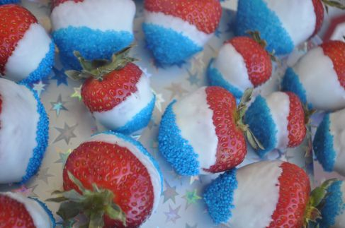 Patriotic Strawberries for a Texas Theme party