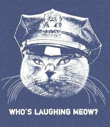 po poCat Quotes, Cops, Cat Meow, Funny Stuff, Laugh Meow, Cat Lovers, T Shirts Design, Giggles, Animal
