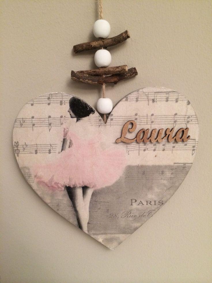 Ballet heart decoupage