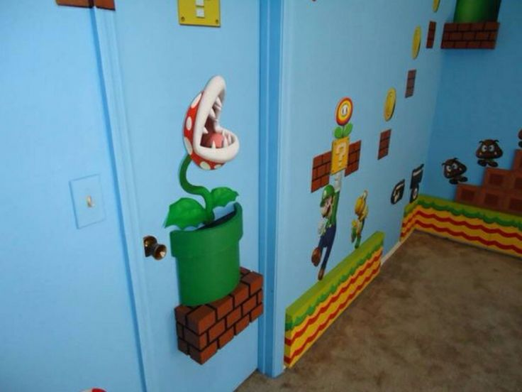 super mario warp pipe with piranha plant for kids bedroom designed by build a room