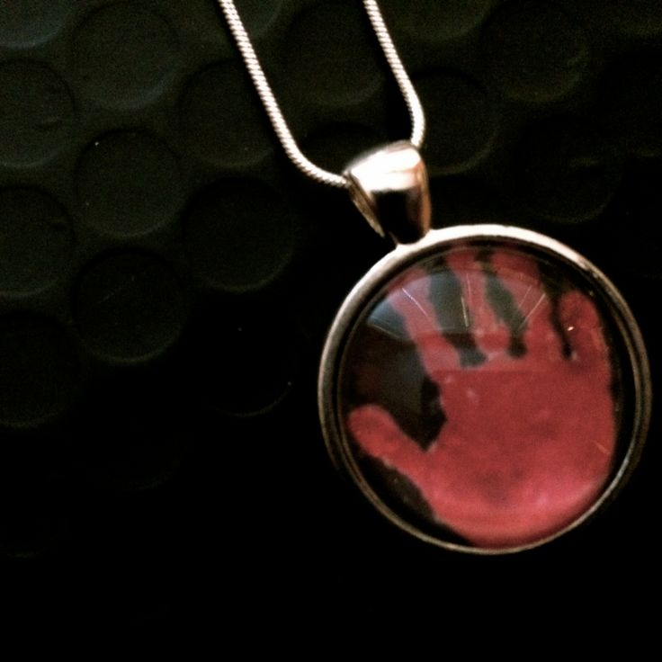 You can now wear Baby's first hand or footprint as a necklace.  http://sweetmemoryart.com/collections/custom-photo-jewellery/products/kid-art-jewellery