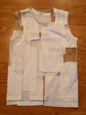 Comme Des Garcons Cut Out Shirt White