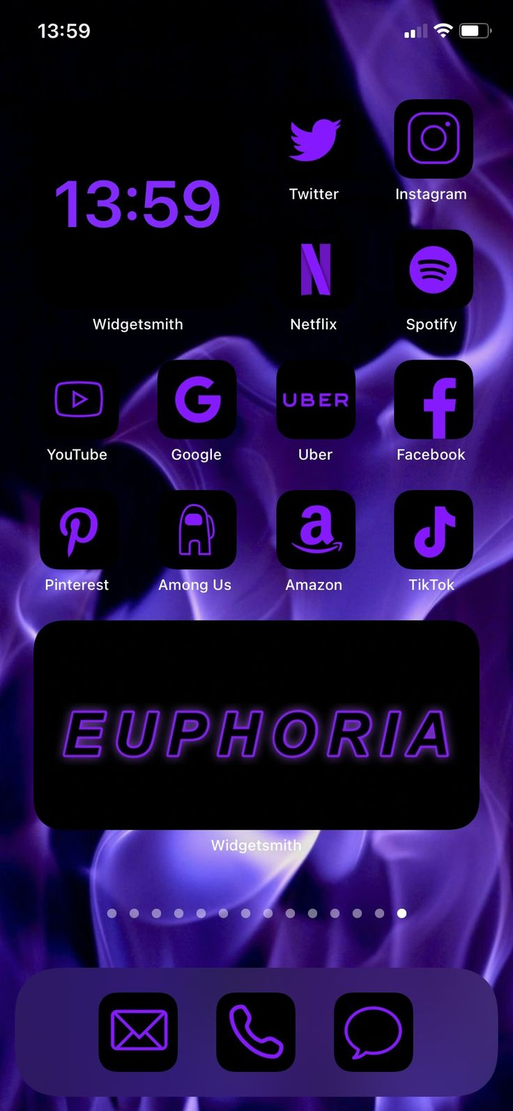 200+ App Icons Neon Purple iOS 14 Lilac, Light, Black