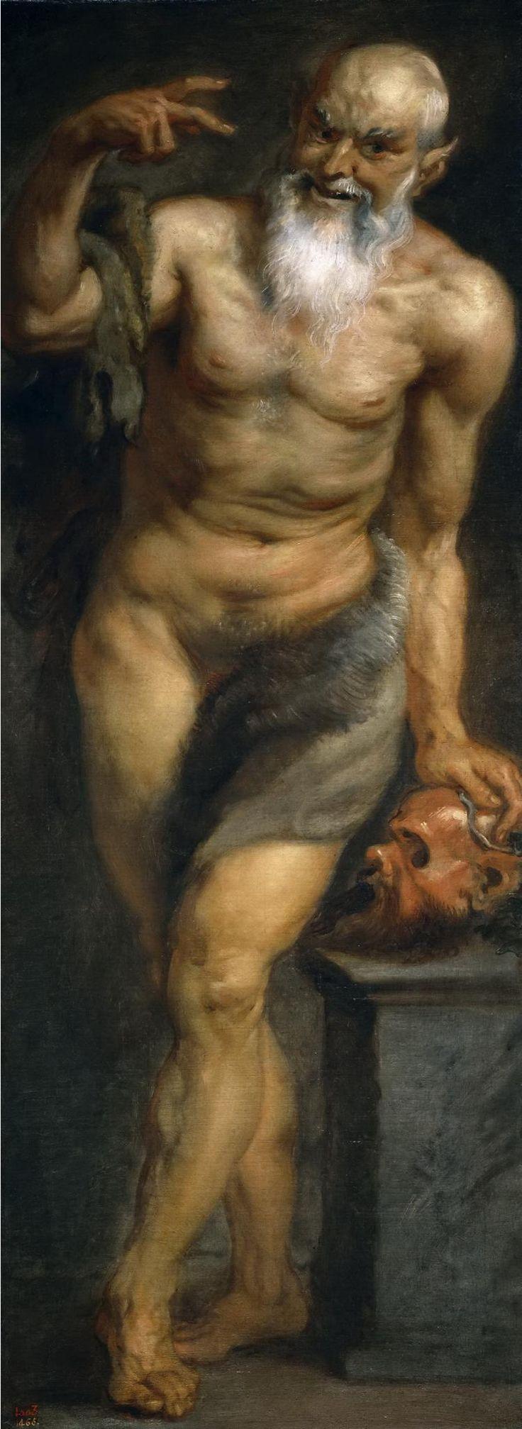 Питер Пауль Рубенс -  Сатир (мастерская)  (1636 - 1637) - Открыть в полный размер