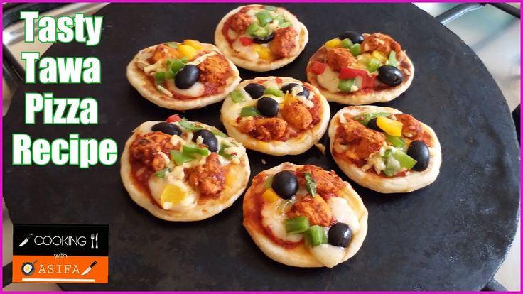 Tasty Tawa Pizza Recipe-Spicy Chicken Tikka Pizza Recipe-without oven mi...
