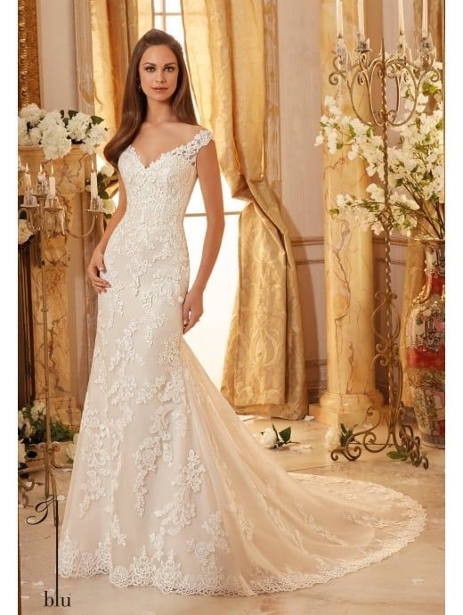 Mori Lee 5471 stunning lace mermaid stye fit and flare wedding dress please visit our web pages to see the beautiful back detail