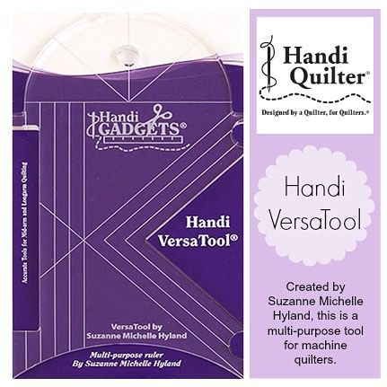"""FEATURE THURSDAY! The VersaTool is easy to grasp and designed to fit comfortably in a quilter's hand. Design uses include: Ditch stitching, 1/4"""" outline stitching and crosshatching, right angle cut-out for corners, continuous curve quilting, hopping foot notch and gentle curve for outlining appliqué, full 4"""" curve for circles and clam shells.  Check it out! http://www.handiquilter.com.au/product/handi-versatool/"""