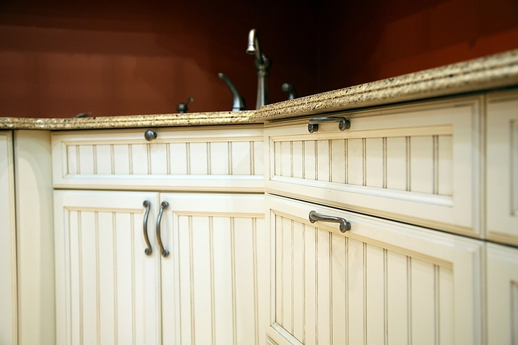 Cabinet refinishing beadboard style and new handles for Black beadboard kitchen cabinets